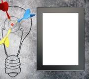 Cadre de blanc de concept de but Images stock