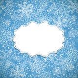 Cadre de blanc de fond de Noël Photographie stock libre de droits