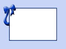 Cadre de bleu de chéri Photographie stock libre de droits