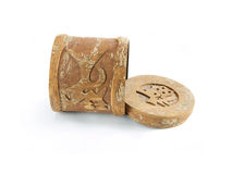 Cadre de bois de santal Photo libre de droits