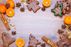 Cadre de boulangerie de Noël Photographie stock libre de droits