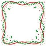Cadre de branches de sapin de Noël Images libres de droits