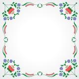 Cadre de broderie hongrois avec la décoration florale illustration libre de droits