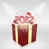 Cadre de cadeau 2012 ans Image libre de droits