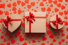 Cadre de cadeau Amour Photos stock