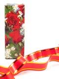 Cadre de cadeau avec des roses Images stock