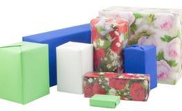 Cadre de cadeau avec des roses Image libre de droits