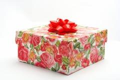 Cadre de cadeau avec la bande rouge Photographie stock