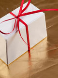 Cadre de cadeau blanc Image libre de droits