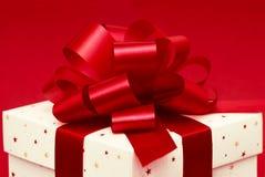 Cadre de cadeau blanc Photographie stock