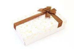 Cadre de cadeau blanc de vacances Images libres de droits