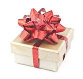 Cadre de cadeau d'or. Images stock