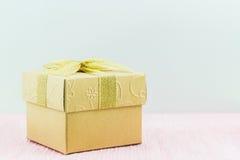 Cadre de cadeau d'or Image libre de droits