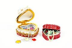 Cadre de cadeau de bijou de jouet Photo libre de droits