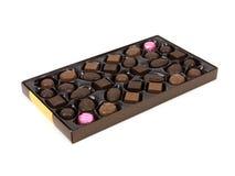 Cadre de cadeau de chocolat Photos stock