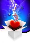 Cadre de cadeau de coeur illustration de vecteur