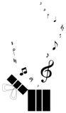 Cadre de cadeau de musique Images libres de droits