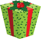 Cadre de cadeau de Noël Images libres de droits