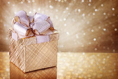 Cadre de cadeau de Noël Photographie stock