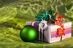 Cadre de cadeau de Noël Image stock