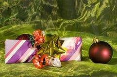 Cadre de cadeau de Noël Photos stock