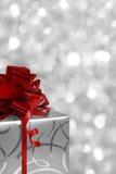 Cadre de cadeau de Noël avec le copyspace Photographie stock libre de droits