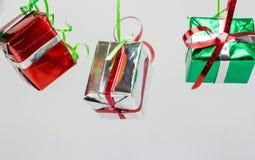 Cadre de cadeau de Noël sur le fond blanc Images libres de droits