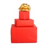 Cadre de cadeau de vacances décoré de la bande Image stock