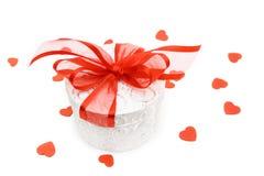 Cadre de cadeau de Valentine images stock