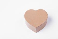 Cadre de cadeau en forme de coeur d'isolement Photographie stock libre de droits