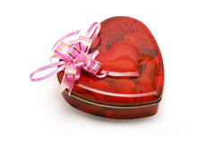 Cadre de cadeau en forme de coeur de biscuits Images stock