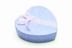 Cadre de cadeau - forme de coeur avec la bande Image libre de droits