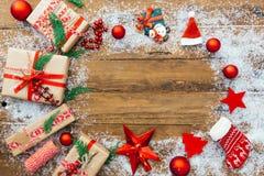 Cadre de cadeau de Noël Weihnachtspakete - cadeau de Noël Photographie stock