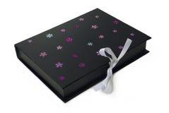 Cadre de cadeau noir d'isolement Images stock