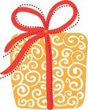 Cadre de cadeau orange Images libres de droits
