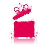 Cadre de cadeau ouvert, actuel Photographie stock libre de droits