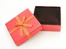 Cadre de cadeau ouvert avec l'espace pour la carte Photo libre de droits