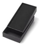 Cadre de cadeau ouvert de noir Photographie stock