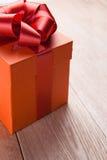 Cadre de cadeau rouge Photos libres de droits