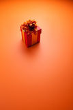 Cadre de cadeau rouge Photos stock
