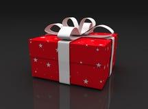 Cadre de cadeau rouge Image stock