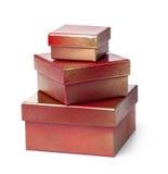 Cadre de cadeau rouge Photo libre de droits