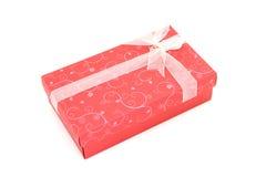 Cadre de cadeau rouge d'isolement de vacances Photographie stock libre de droits
