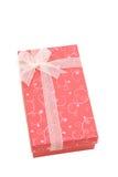 Cadre de cadeau rouge d'isolement de vacances, vertical Photo libre de droits