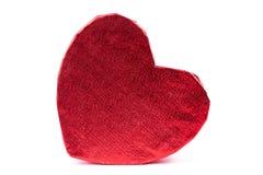 Cadre de cadeau rouge en forme de coeur Photos stock