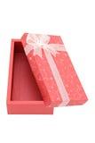 Cadre de cadeau rouge ouvert d'isolement de vacances Photographie stock libre de droits