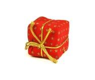 Cadre de cadeau rouge sur le blanc photo stock