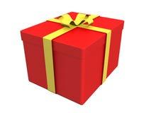 Cadre de cadeau sur le blanc Image stock