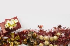 Cadre de cadeau sur le fond blanc Photo libre de droits