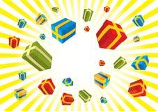 Cadre de cadeaux de Noël Photo stock
